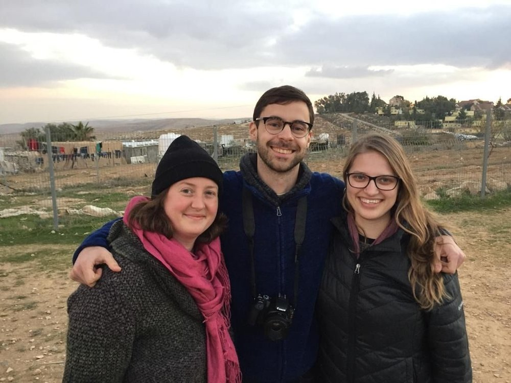 Shira, Ben, and Emily at Umm al Khair