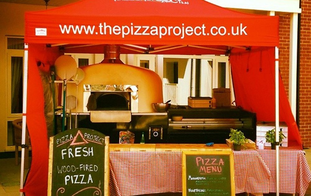 Pizza ovens and pizza vans for weddings, parties and event catering