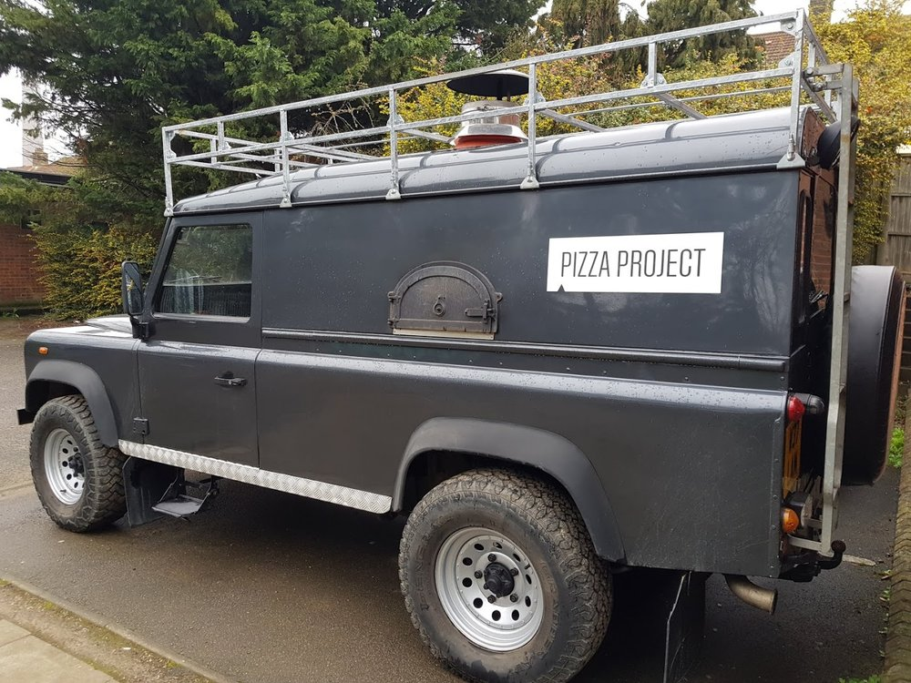 Pizza Project Van - Our custom designed Land Rover with a built in Pizza Oven