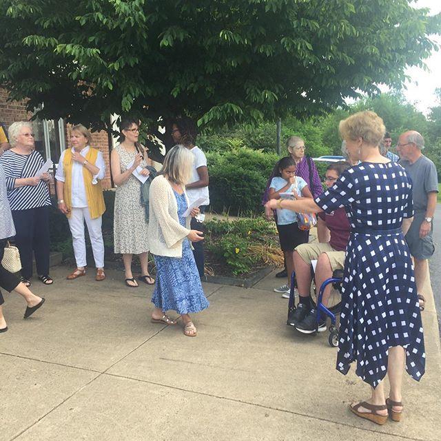 Wonderful morning in Rappahannock. Now off to Culpeper. #checkpresentation#givingisfun #charity