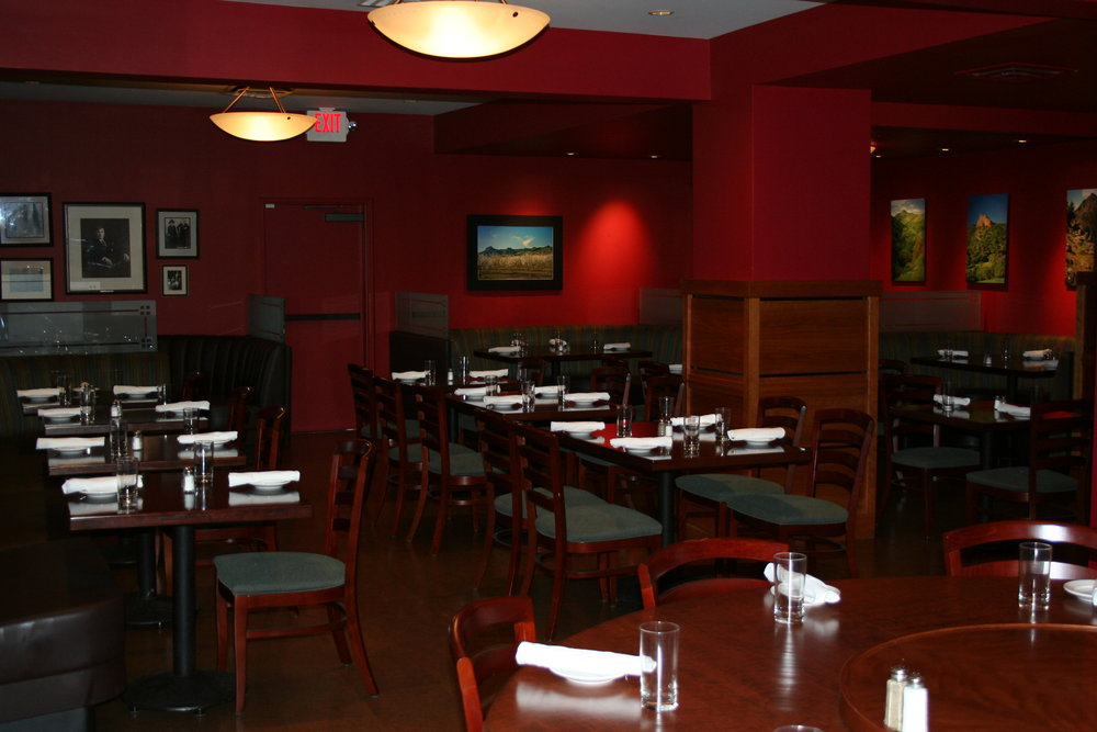 Main Dining Room - For larger parties (up to 75 guests). Monday through Saturday.