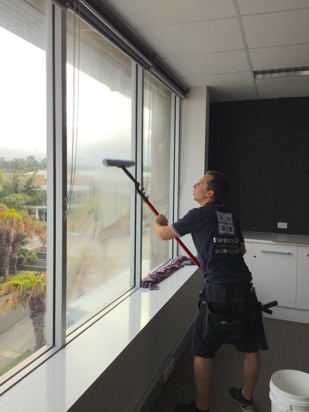 This floor of offices in Varsity Lakes, Robina looked fantastic after window cleaning.