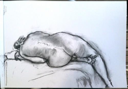 "20 mins pose - A3. charcoal"""