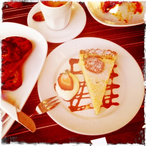 birthday breakfast - lemon tart & fruit toast