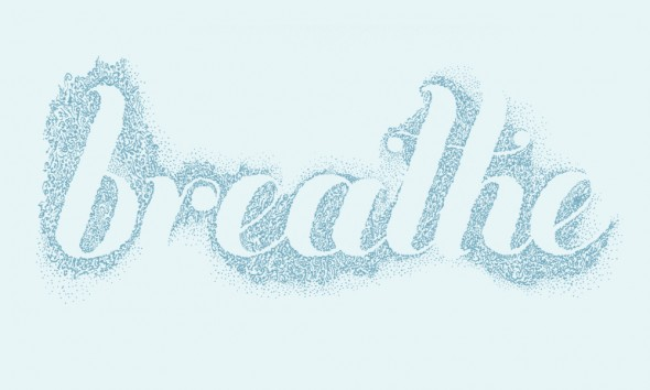 "BREATHE, Originally ink on watercolour paper, 12"" x 8"" (30.5cm x 20.32cm)"