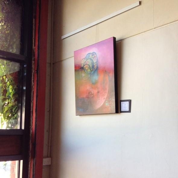 """Window view at The Firehouse Restaurant, Ringwood (Nov 2011 - Feb 2012)"""