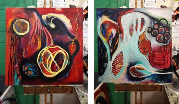 """""""My two Bloom True paintings"""""""