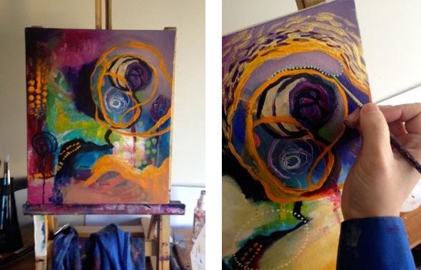 """LACE & SPIRAL (Detail) ©2012 Brenda Mangalore / Sashé Studio"""