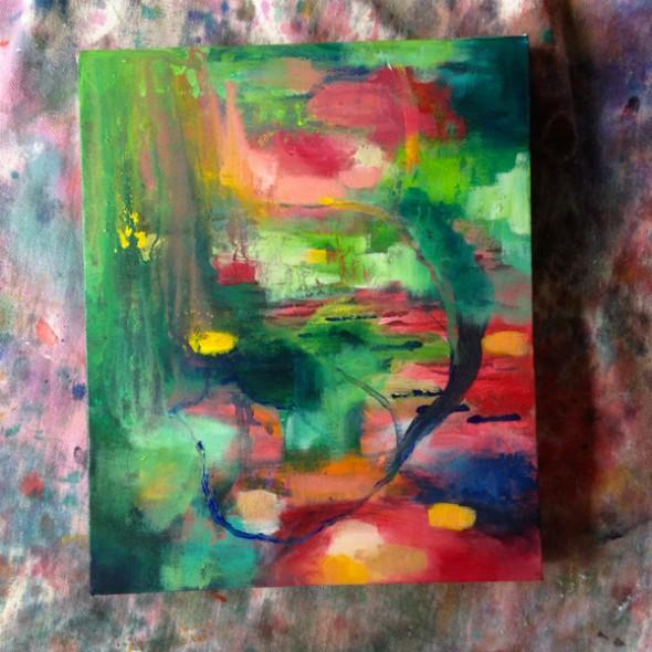 """Juicy Bloom (In Progress) ©2012 Brenda Mangalore / Sashé Studio"""