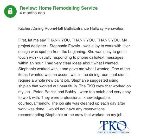 We're happy when our clients are truly happy! Our years of experience paired with design knowledge and customer service make TKO the obvious choice for your next remodel project. Contact us today to get started!
