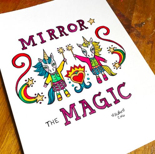 unicorn illustration art