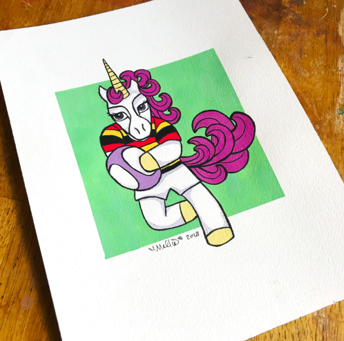 rugby unicorn illustration