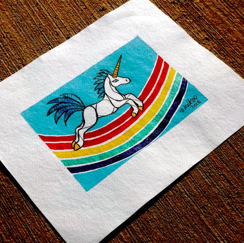 rainbow unicorn illustration art