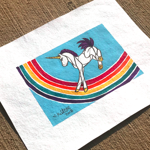 rainbow unicorn illustration art