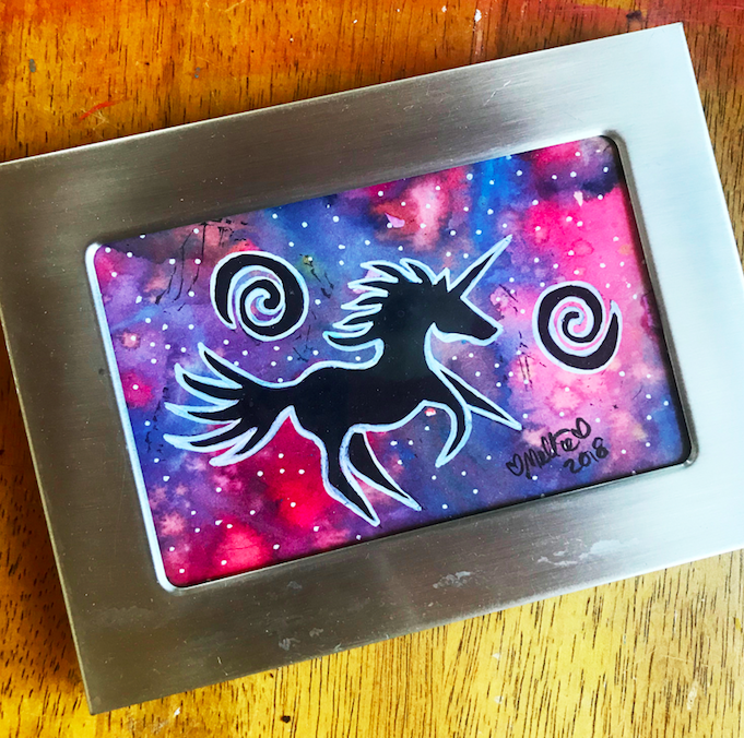 unicorn art stamp