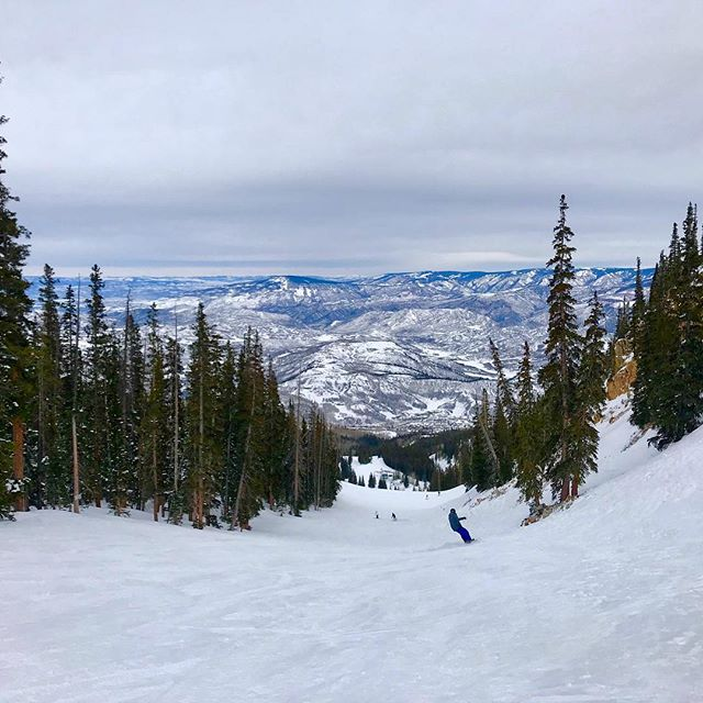 I got to go skiing today! While I do hope and dream that someday my pocketbook will be full enough to let me have a season pass of my own, for now I'll let myself thoroughly enjoy the rare times I snag a half price ticket and get to explore this beautiful mountain. I love it so much - even skiing solo!