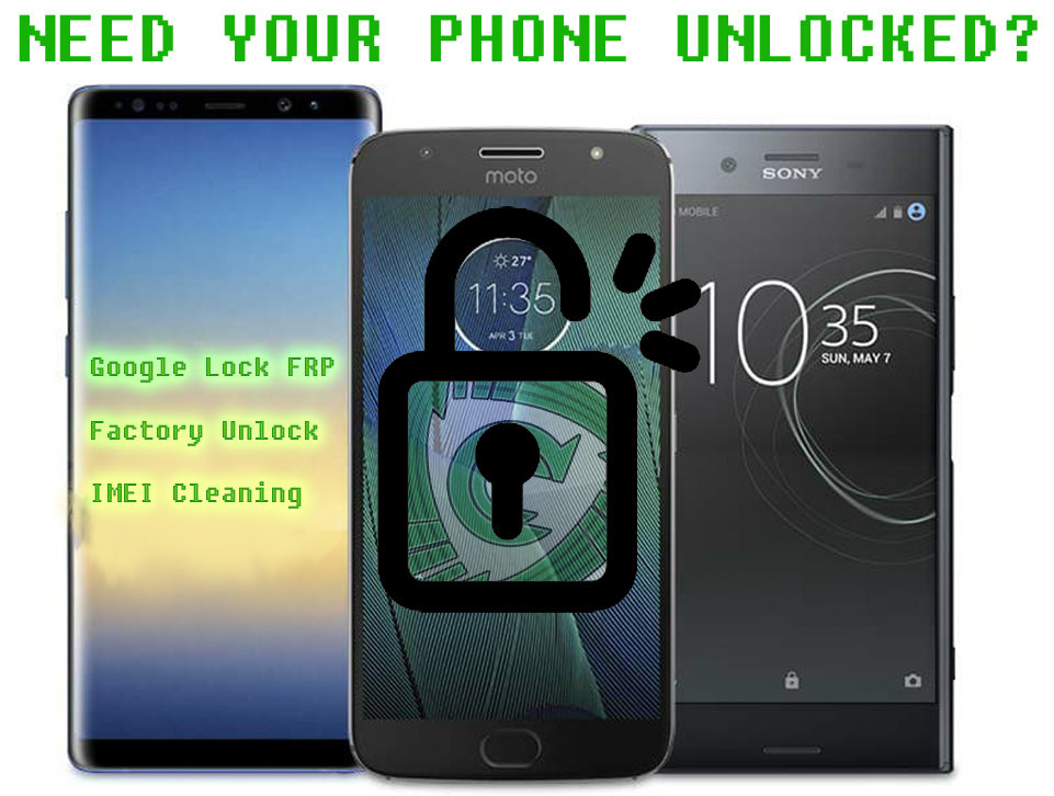 We also do unlocks!  Just contact: 209-204-5485 for more info -