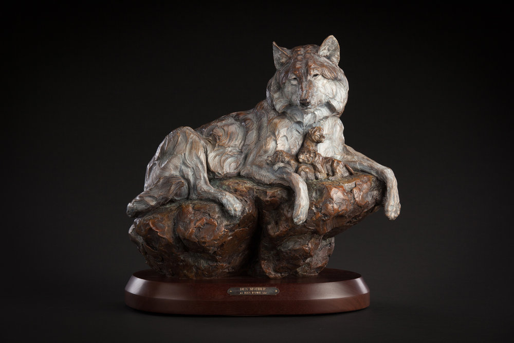 "Den Mother | 16"" x 17"" x 10"" | Bronze | Edition of 35 | $4,500"