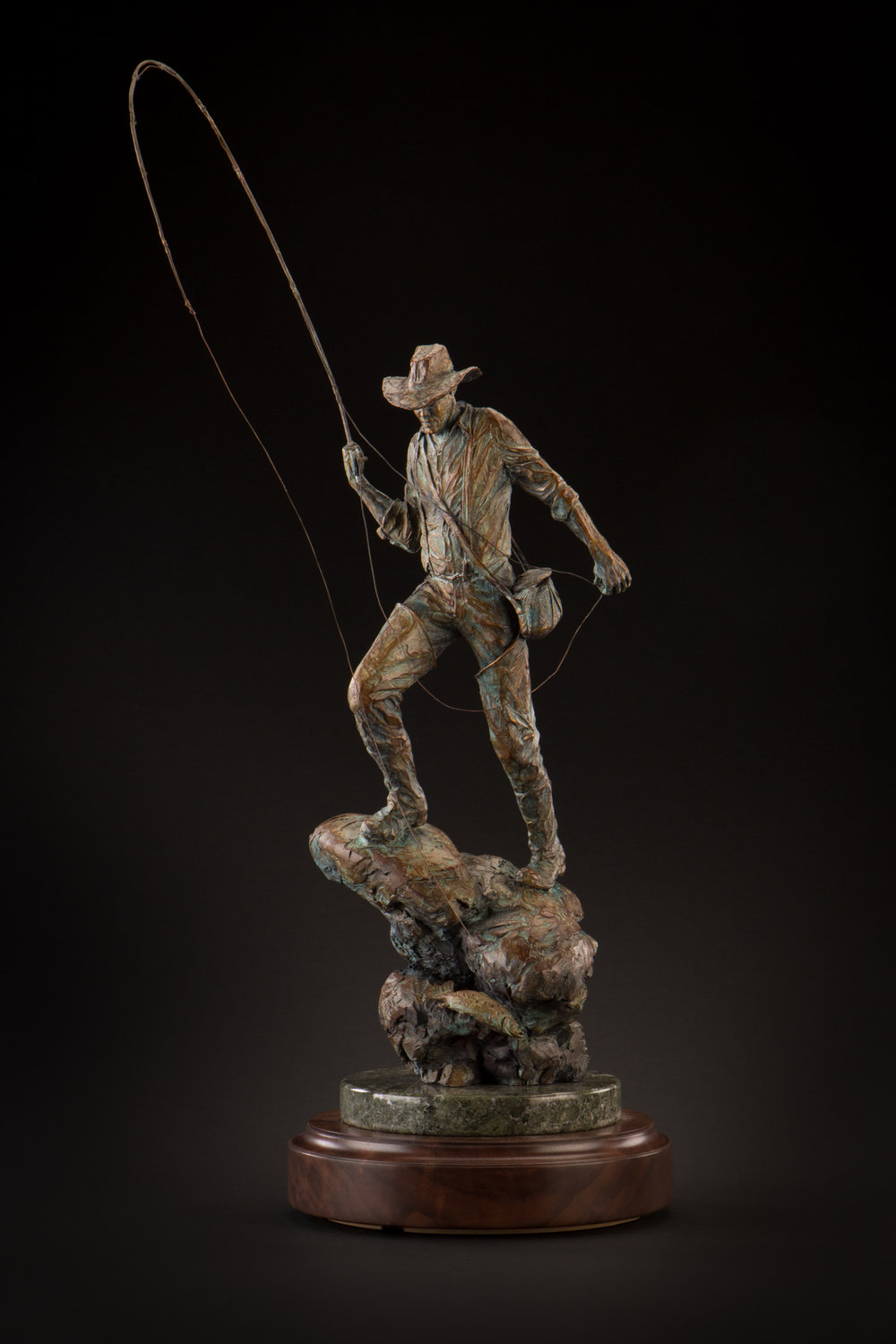 "Hooked | 26"" (With Rod) x 8"" x 8"" 