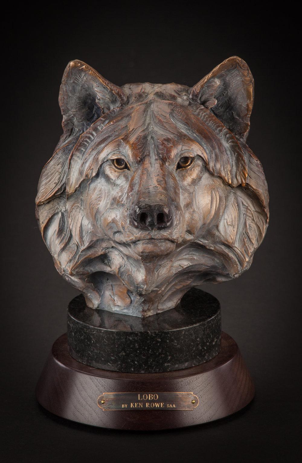 "Lobo | 10"" x 7"" x 8.5"" | Bronze | Edition of 35 | $2,200"