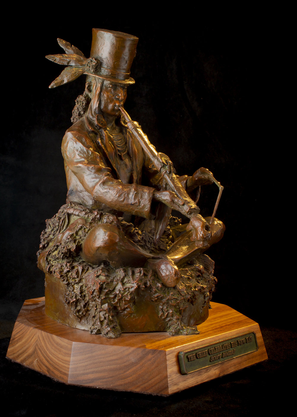 """The Chief Celebrates His New Hat (Small) 