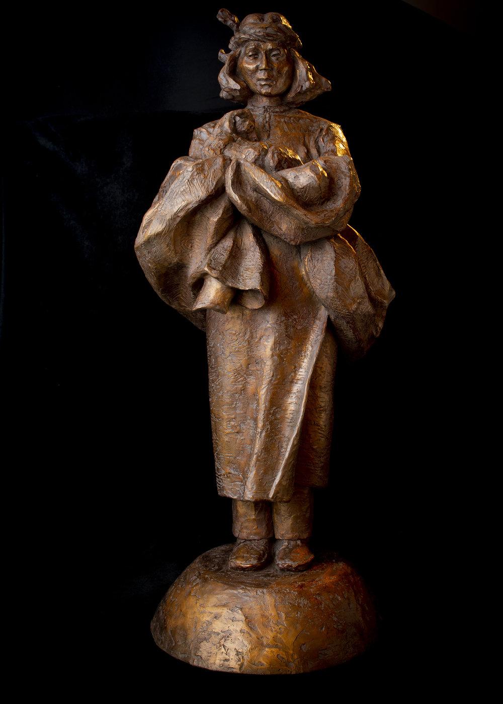 "Firstborn | 32"" x 12"" x 16"" | Bronze | $8,000 |  Edition of 30"