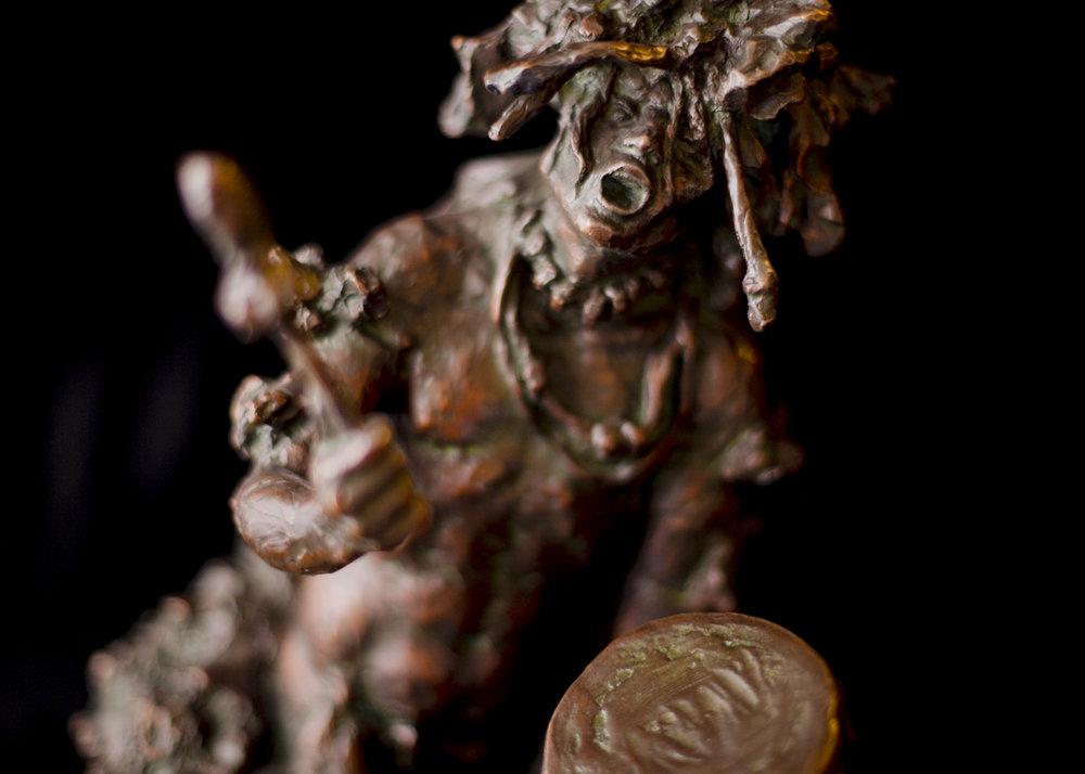 "The Healing Drum | 14.5"" x 14"" x 11"" | Bronze | $3,400 | Edition of 30"