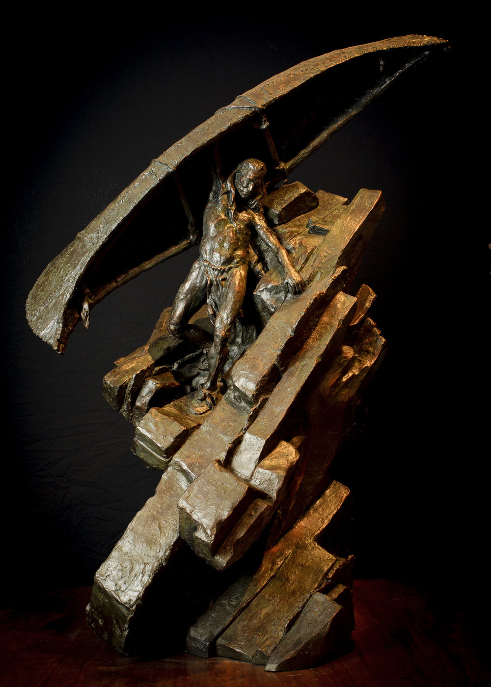 "The Portage | 41"" x 29"" x 22"" | Bronze | $16,000 | Edition of 30"