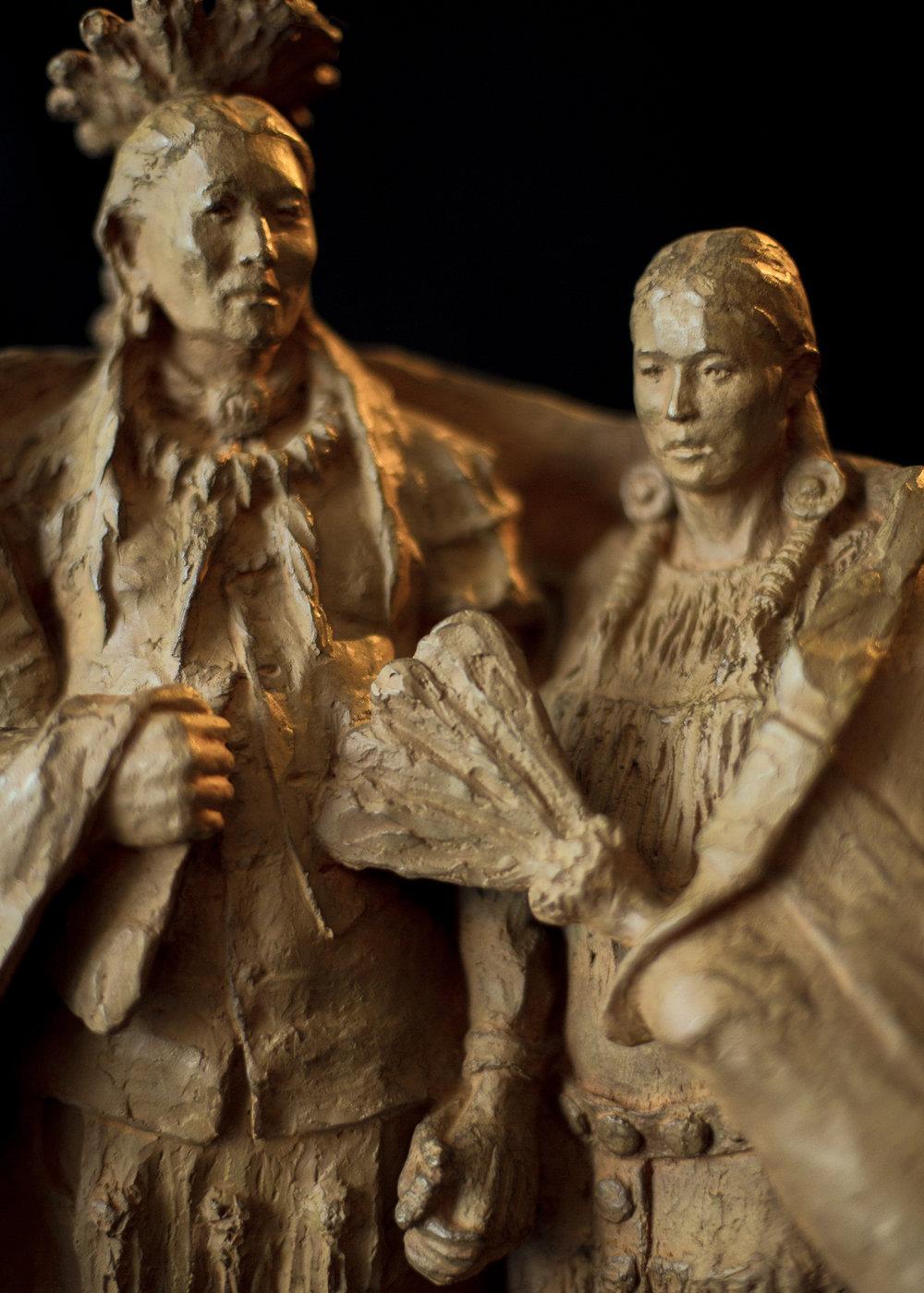 "The Wedding Blanket | 20"" x 13.5"" x 9.75"" | Bronze | $5,400 | Edition of 30"