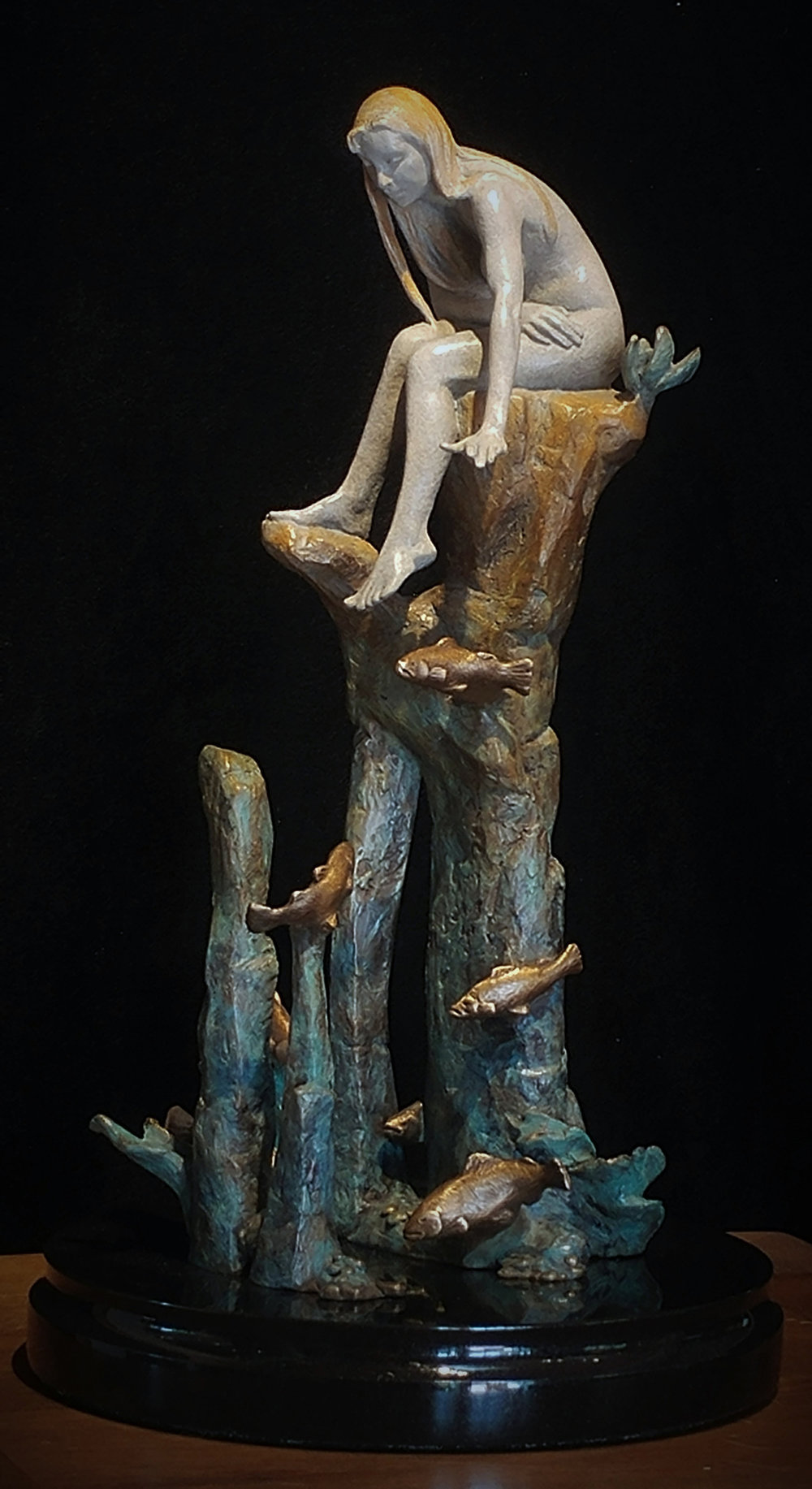 "Above the Depths Below | 16"" x 6"" x 4"" 