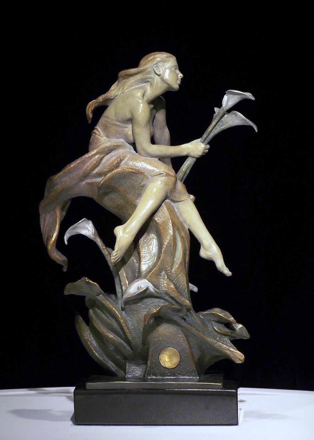 "Calla Lilies | 16"" x 11"" x 5.5"" | Bronze | $3,500"