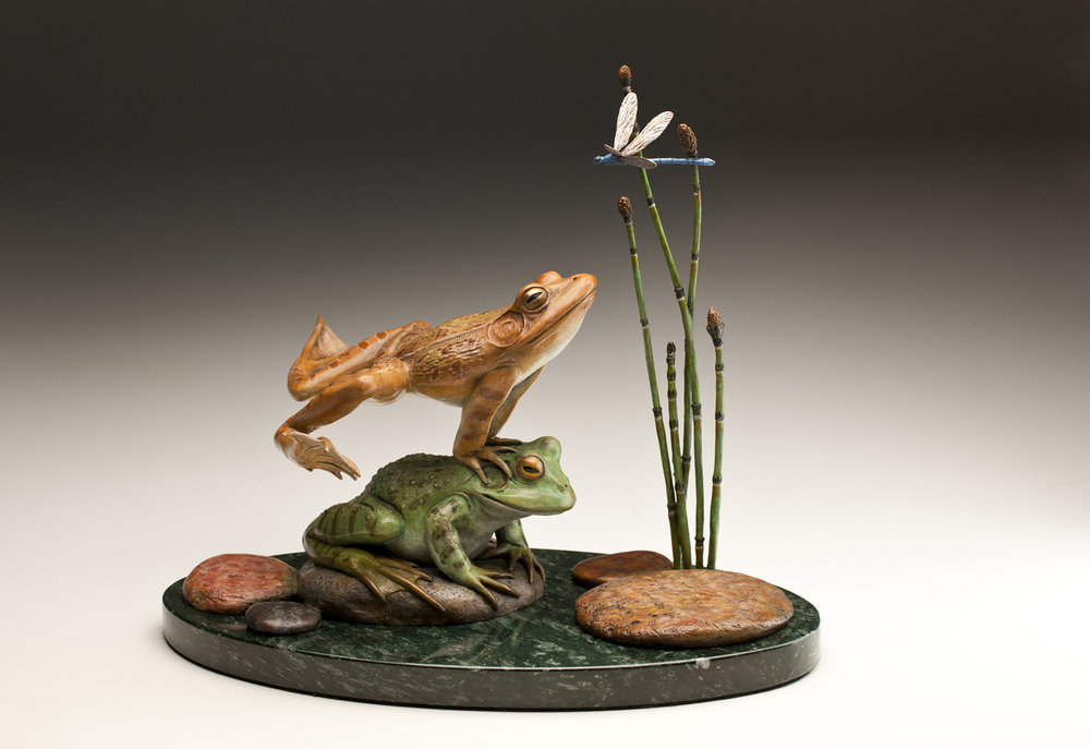 "Leap for Joy | 9.5"" x 12"" x 10"" 