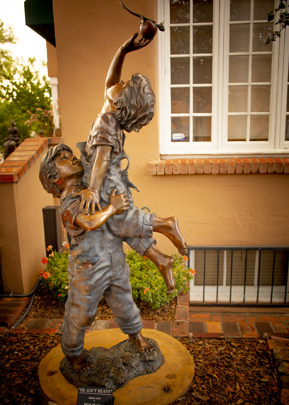 "He Ain't Heavy (Garden Monument) | 37"" x 12"" x 16"" 