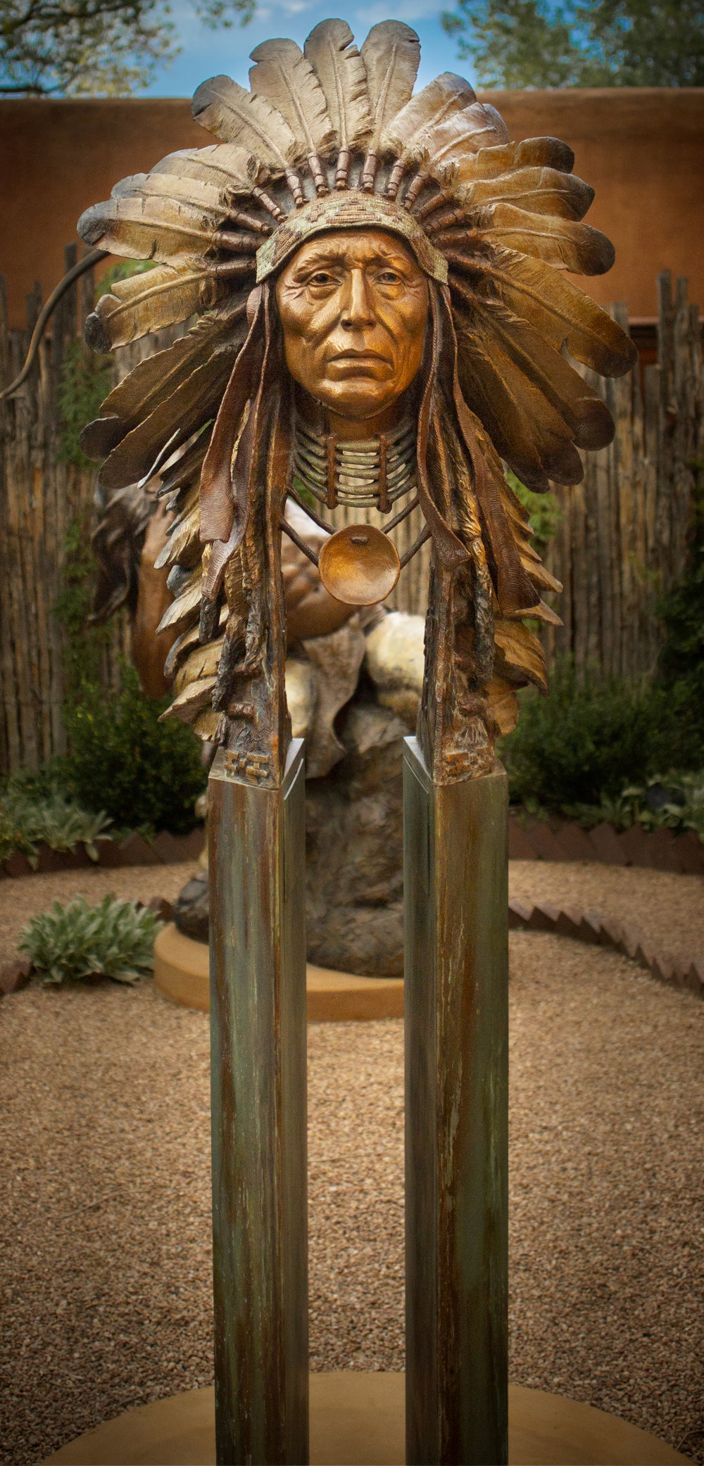 "Chief Black Elk | 39"" x 30"" x 21"" 