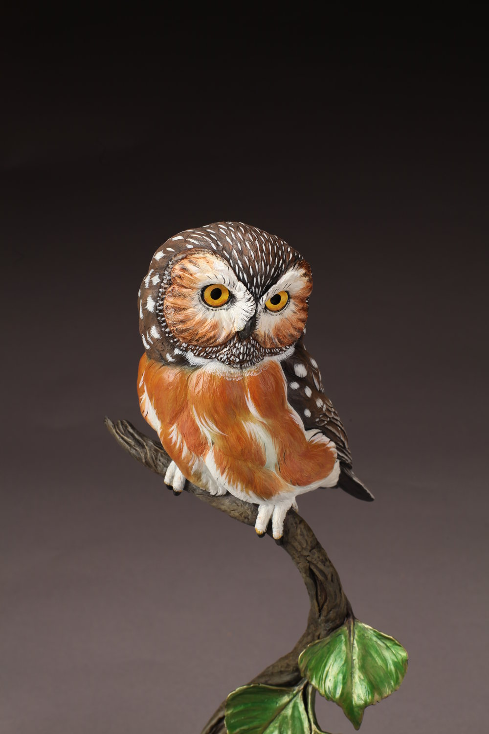 "Saw-whet Owl | 15"" x 6"" 