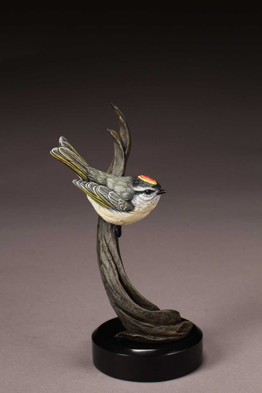 "Golden Crowned Kinglet | 8.5"" x 4""
