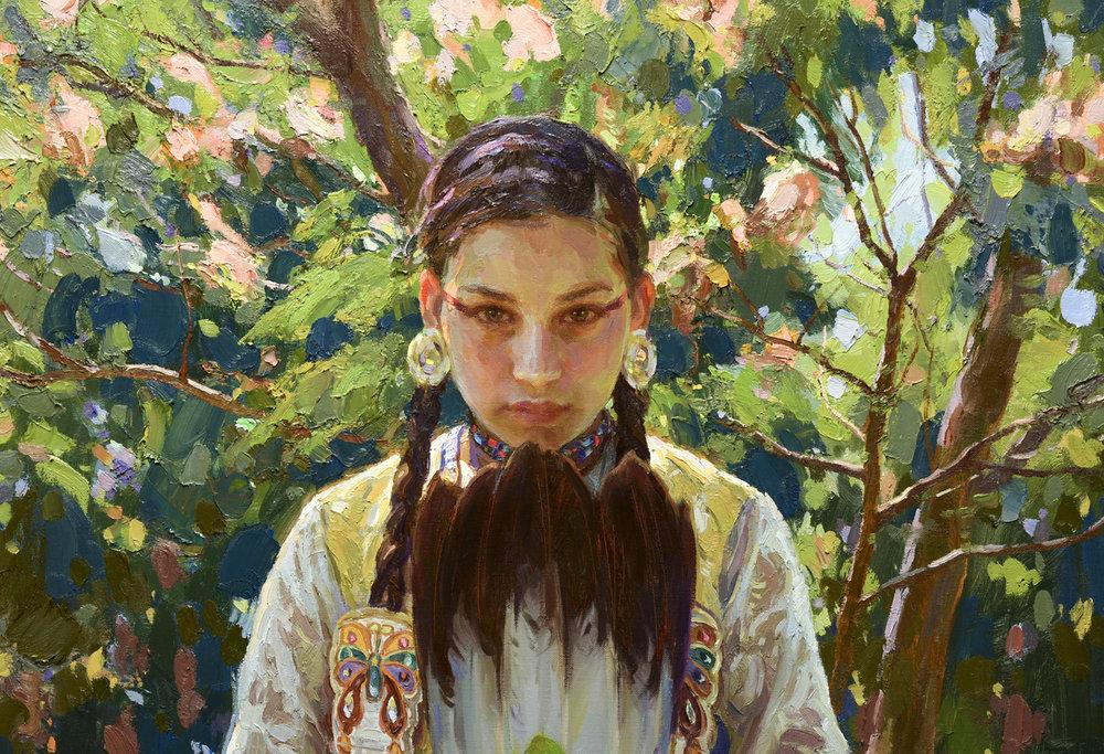 "Serenity (Detail) | 60"" x 30"" | Original Oil Painting | $25,000"