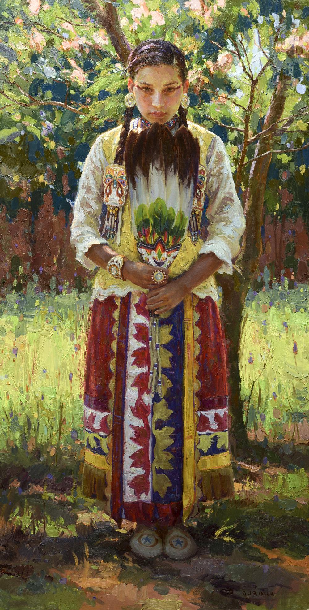"Serenity | 60"" x 30"" | Original Oil Painting | $25,000"