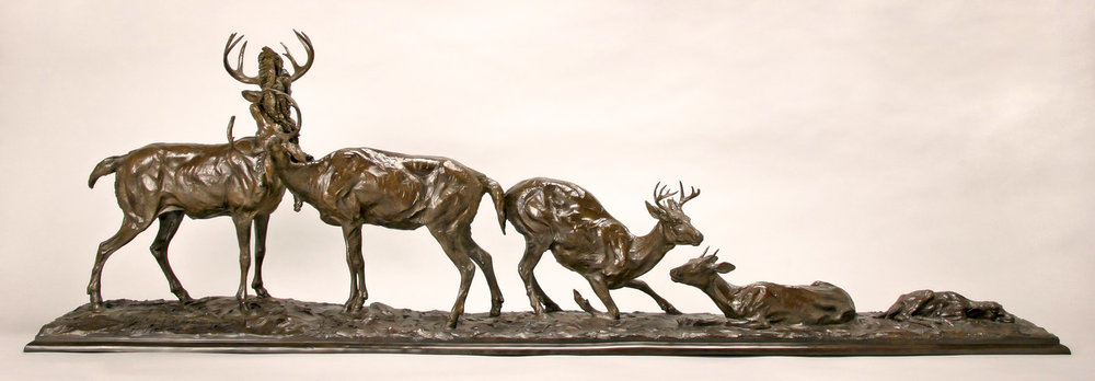 "Whitetail Ascension |  19"" x 62"" x 11""  