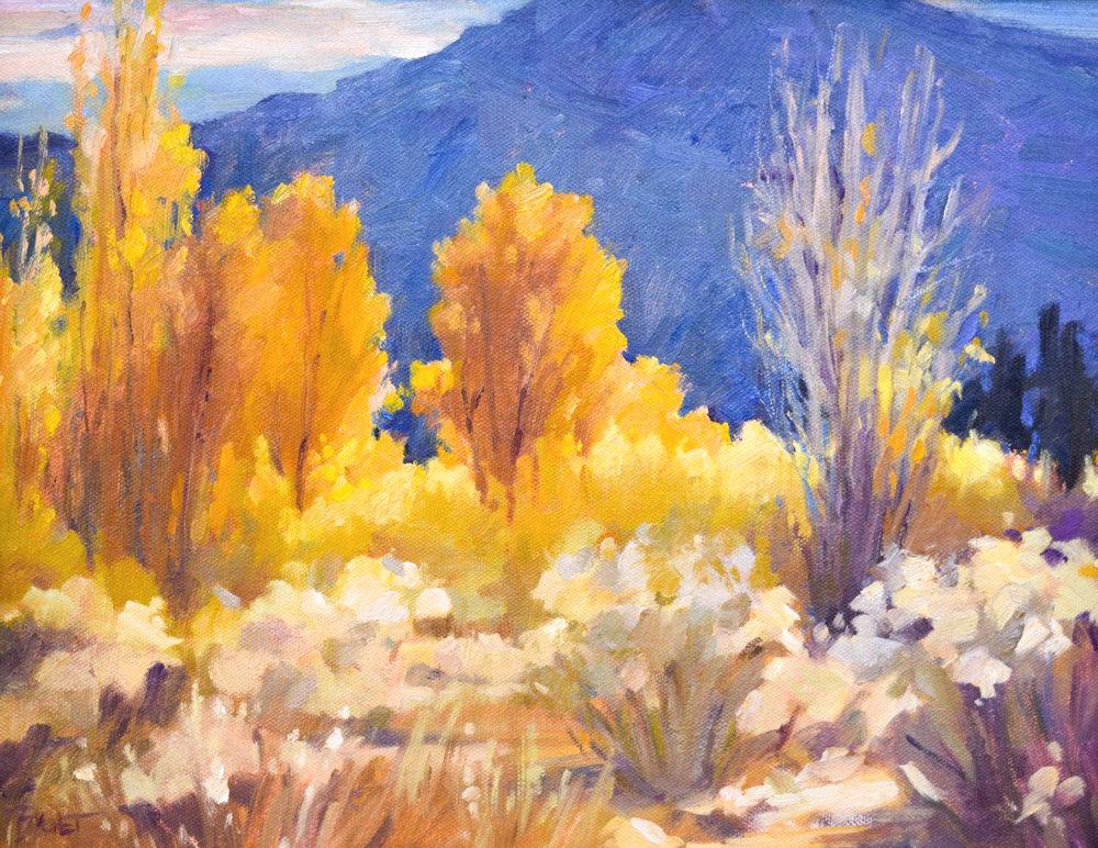 "Snow Shadows | 11"" x 14"" | Original Oil Painting | $1,450 | By Sandra Boschet"