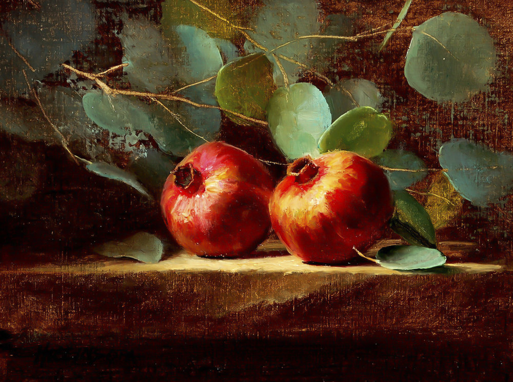 "Pomegranate Dreams | 9"" x 12"" 