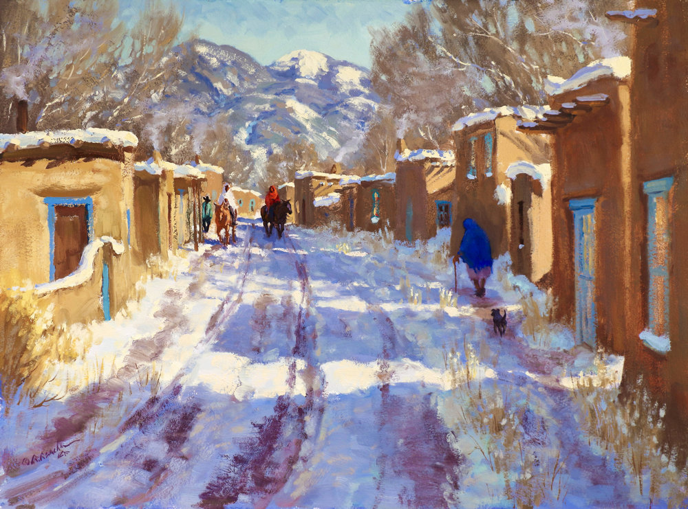 "Taos Blue | 12"" x 16"" 