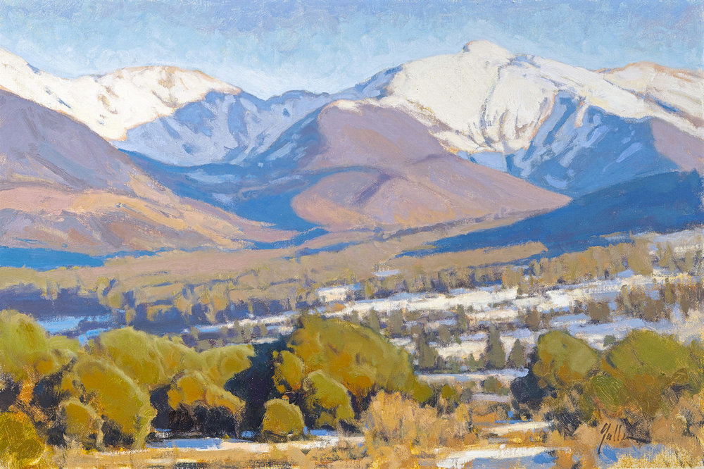 "Truchas Winter | 20"" x 30"" 