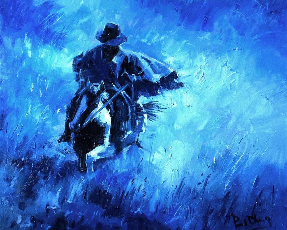 "Urgent Message | 20"" x 24"" | Original Oil Painting | $2,950 | By Paul Cheng"