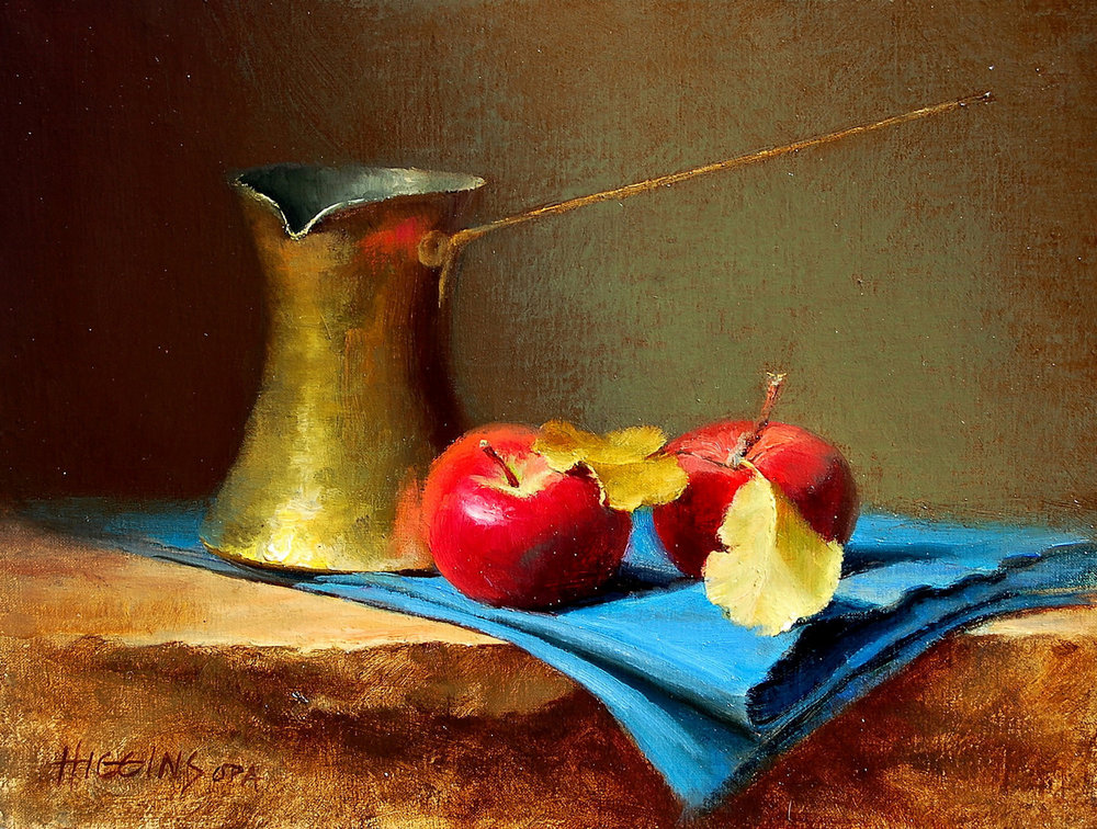 "Winter Apples | 9"" x 12"" | Original Oil Painting | $1,400 | By Wendy Higgins"