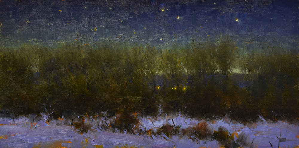 "Edge of Night | 8"" x 16"" 