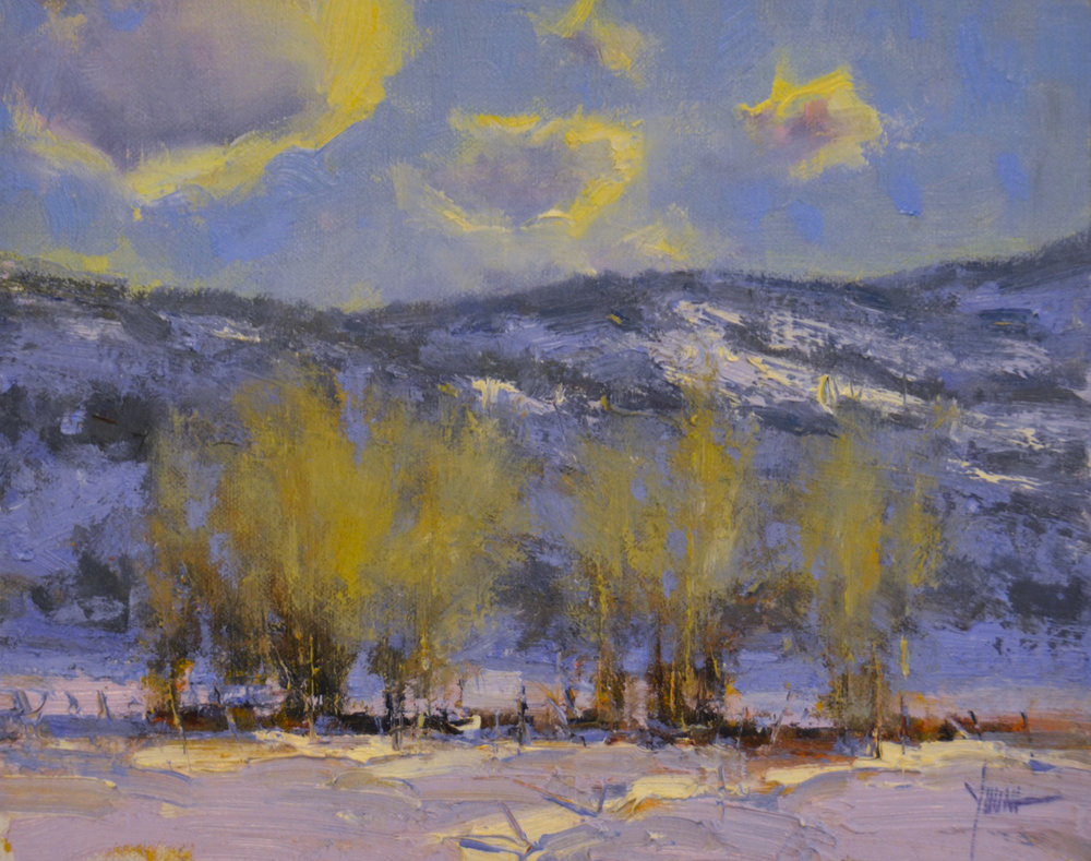 "Winter Cottonwoods | 8"" x 10"" 