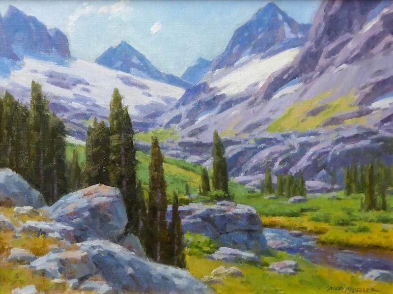 "Minaret Range Valley by Ned Mueller | 12 "" x 16"" 