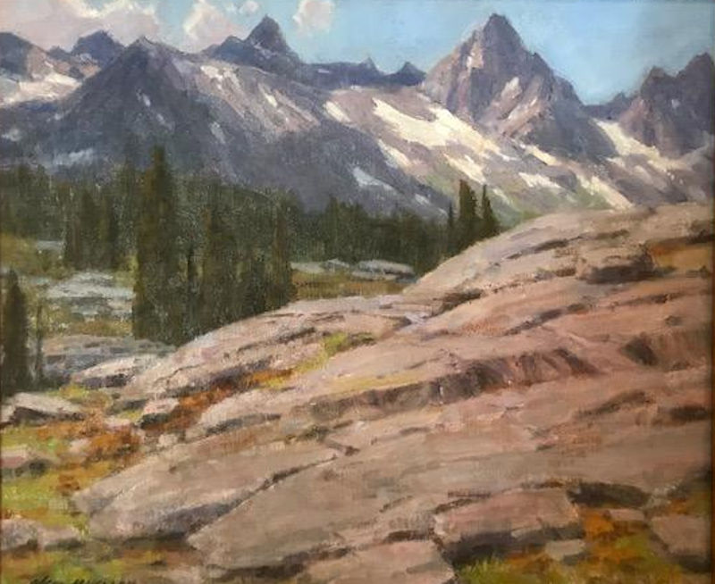 "Minaret Range Overlook by Ned Mueller | 10"" x 12"" 