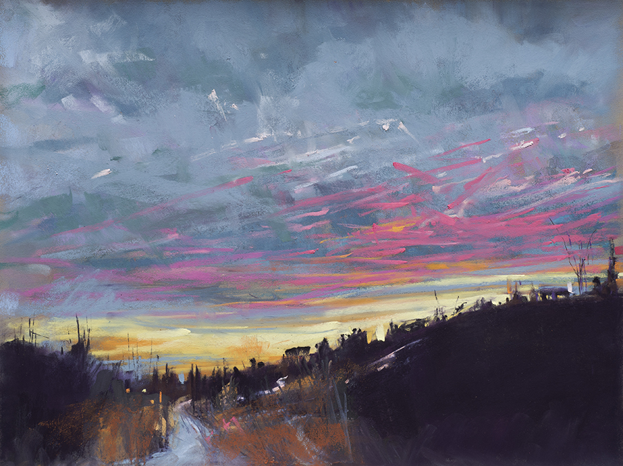 "Snow, Sky, & Sunset | 12"" x 16"" 
